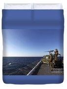 Marines Provide Defense Security Duvet Cover