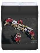 Marines Push Pordnance Into Place Duvet Cover