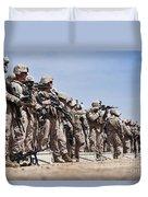 Marines Verify The Battle Sight Zeroes Duvet Cover