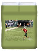 Mark Sanchez Ny Jets Quarterback Duvet Cover