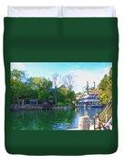 Mark Twain Riverboat At Disneyland Duvet Cover