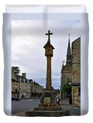 Market Cross - Stow-on-the-wold Duvet Cover