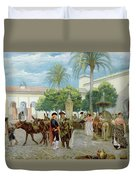 Market Day In Spain Duvet Cover