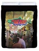 Market Grill 3 Duvet Cover