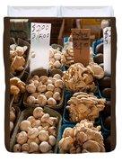Market Mushrooms Duvet Cover