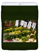 Market Peppers Duvet Cover
