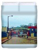 Market Street From Penns Landing Philadelphia Duvet Cover