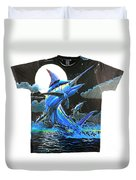 Marlin Moon Mens Shirt Duvet Cover
