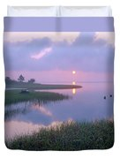 Marsh At Sunrise Over Eagle Bay St Duvet Cover by Tim Fitzharris