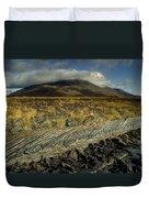 Marsh On The Landscape, Connemara Duvet Cover