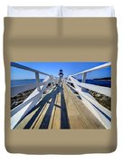 Marshal Point Lighthouse Walkway Duvet Cover