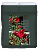 Martha's Vineyard Red Hibiscus And Porch Duvet Cover