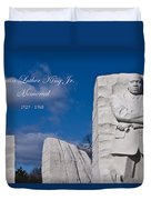 Martin Luther King Jr Memorial Duvet Cover