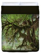 Marvelous Moss Duvet Cover by Heidi Smith
