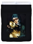 Mary And Jesus Painting At Peace Center Duvet Cover