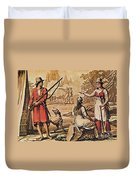 Mary Read And Anne Bonny, 18th Century Duvet Cover by Photo Researchers