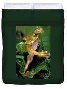 Masked Treefrog Duvet Cover