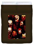 Masks Of Fear Duvet Cover