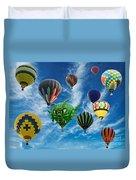Mass Hot Air Balloon Launch Duvet Cover