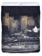 Massive Eight-towered Castle Looms Duvet Cover