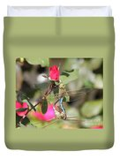 Mating Dragonfly Duvet Cover