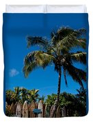 Maui Surfboard Fence - Oldest Section Duvet Cover