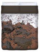 Mauis Red Shoreline Duvet Cover