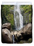 Mauis Wailua Falls And Rocks Duvet Cover