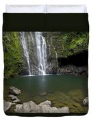 Mauis Wailua Falls Duvet Cover