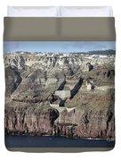 Mavromatis Pumice Quarry With Pier Duvet Cover