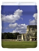 Mayan Ball Court Duvet Cover