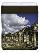 Mayan Colonnade Duvet Cover