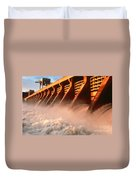 Mcnary Dam Duvet Cover by DOE/Science Source