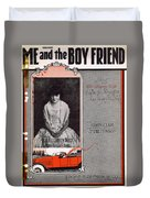 Me And The Boy Friend Duvet Cover