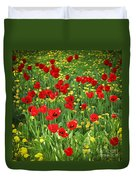 Meadow With Tulips Duvet Cover