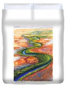 Meandering River In Northern Australian Channel Country Duvet Cover