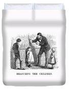Measuring Children, 1876 Duvet Cover