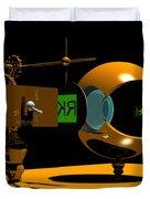 Mechanical Oculist Green Duvet Cover