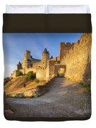 Medieval Carcassonne Duvet Cover