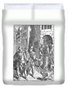 Medieval Prison, 1557 Duvet Cover