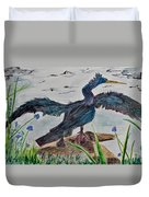 Anhinga-drying Out Duvet Cover