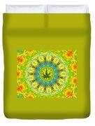 Mellow Yellow Mandala Duvet Cover