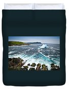 Melting Iceberg In Newfoundland Duvet Cover by Elena Elisseeva