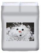 Melting Snowman Duvet Cover