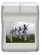 Members Of A Ceremonial Honor Guard Duvet Cover