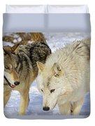 Members Of Wolf Pack Duvet Cover