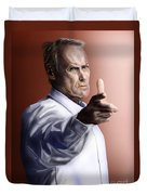 Men Must Know Their Limitations-clint Eastwood Duvet Cover