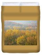 Meramec River Valley Autumn At Castlewood State Park In Missouri Duvet Cover