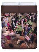 Merchants At Saqqaras Market Carry Duvet Cover