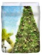 Merry Christmas Tree 2012 Duvet Cover